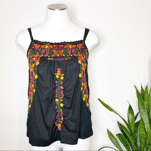 Lucky Brand | Mexican Puebla Inspired Top